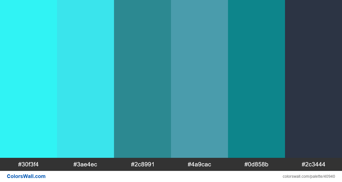 Design blue flat art palette - #40940