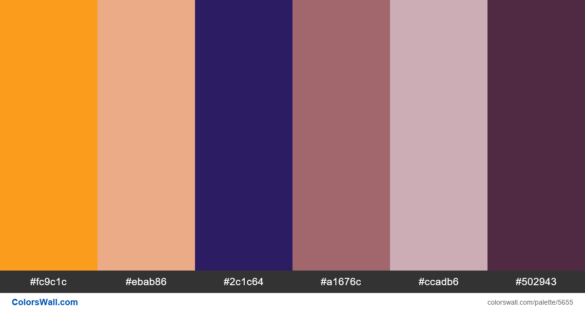 Design landing minimal colors palette - #5655