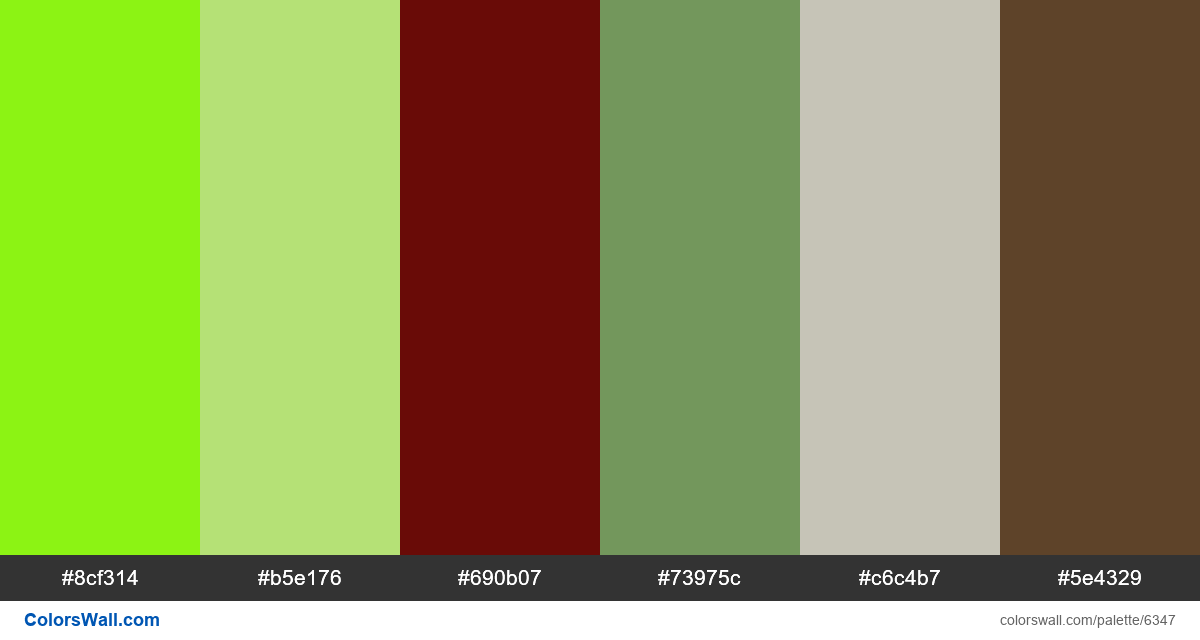 Design website app colors palette - #6347