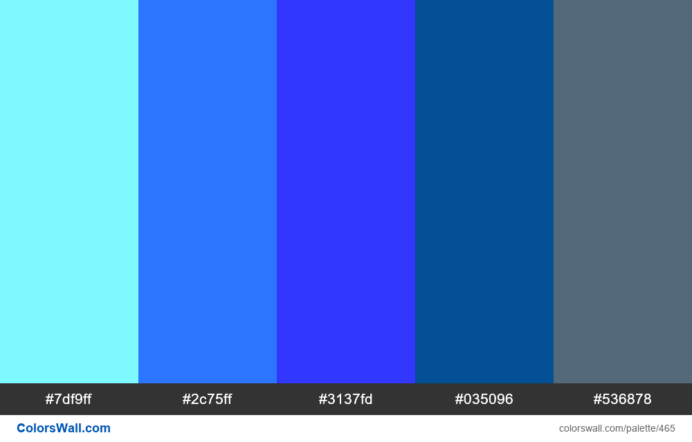 Electric blue colors palette - #465