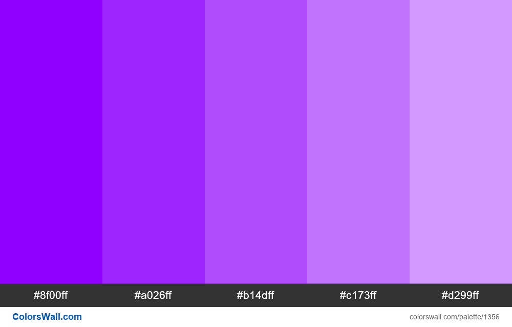Electric violet tints 5 colors - #1356