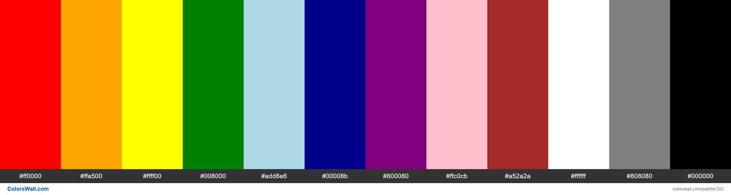 Emotional associations of colors - #202