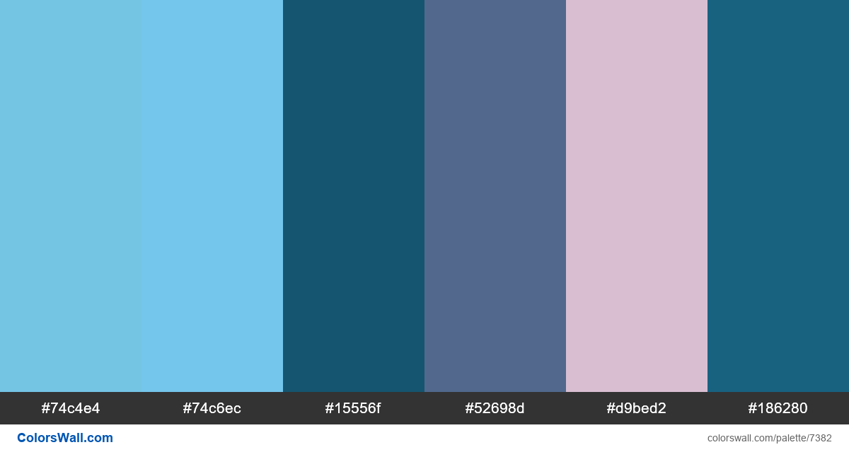 Enterprise minimal thumbprint colors palette - #7382