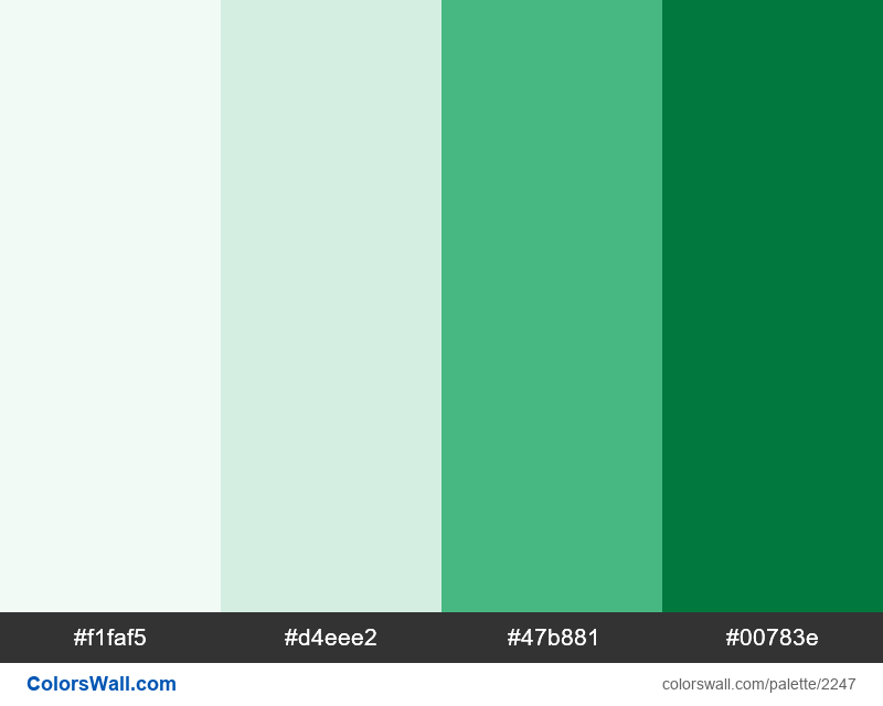 Evergreen Green palette colors - #2247