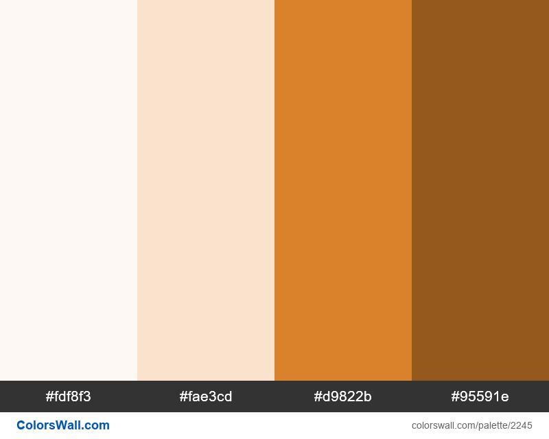 Evergreen Orange palette colors - #2245