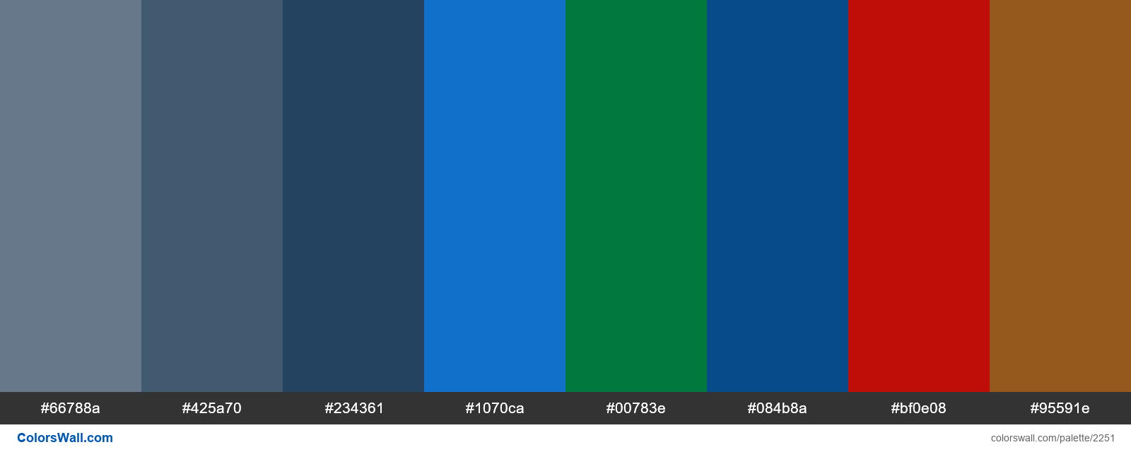 Evergreen Text palette colors - #2251