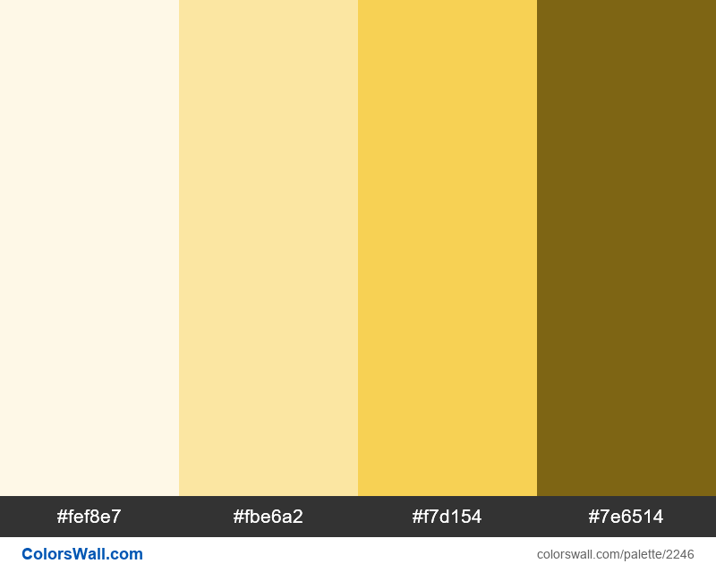 Evergreen Yellow palette colors - #2246