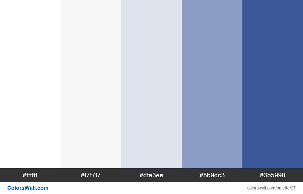 Facebook Colors Palette - #27