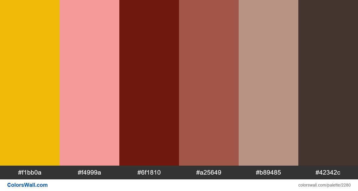 Fall leaf colors palette #2 - #2280