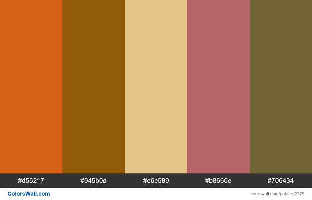 Fall leaf colors palette - #2279