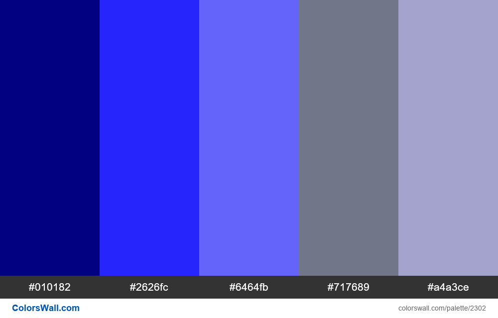 Finance app colors palette #2 - #2302
