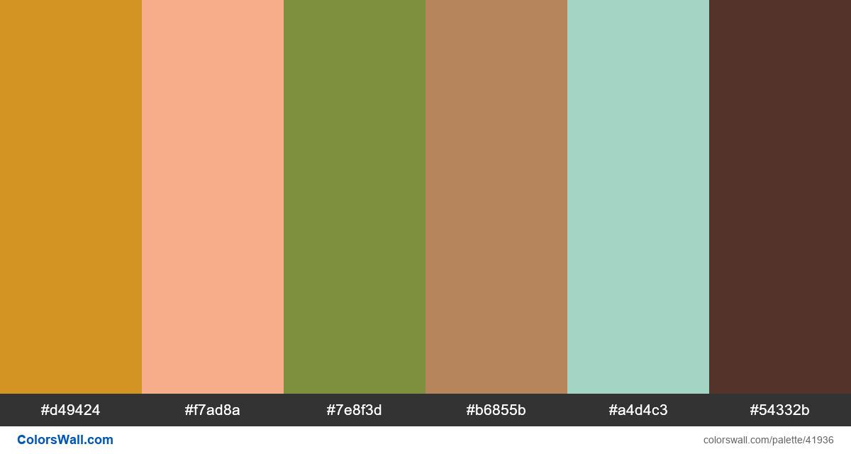 Flat vector beautiful summer colors palette - #41936