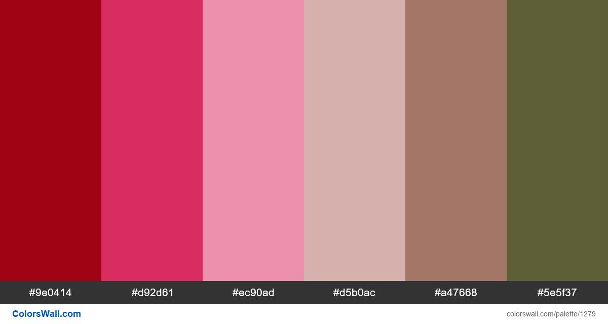 Flower color palette - #1279