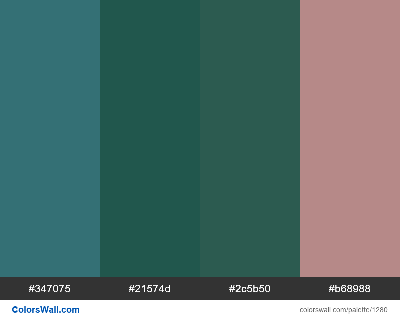 Forest flower color palette - #1280
