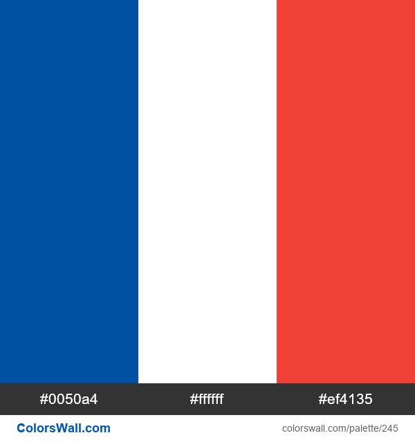 France flag colors - #245