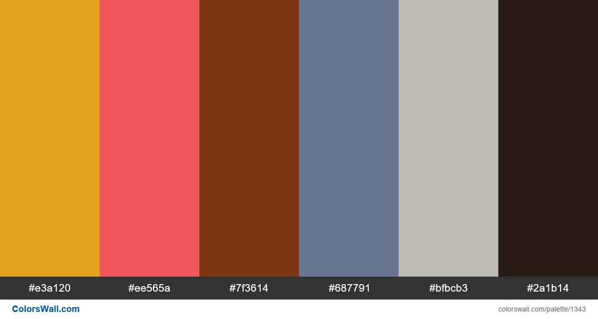 Fruit salad colors palette - #1343