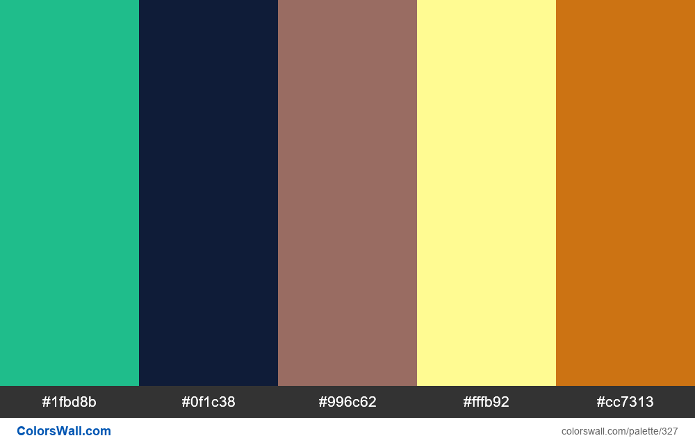 Generated color palette #1 - #327