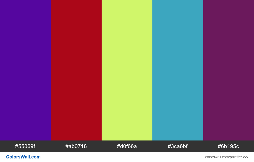 Generated color palette #24 - #355
