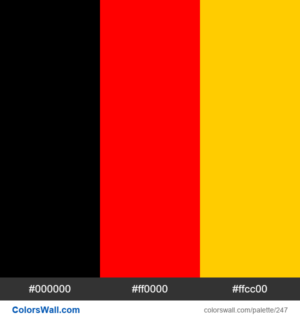German flag colors - #247