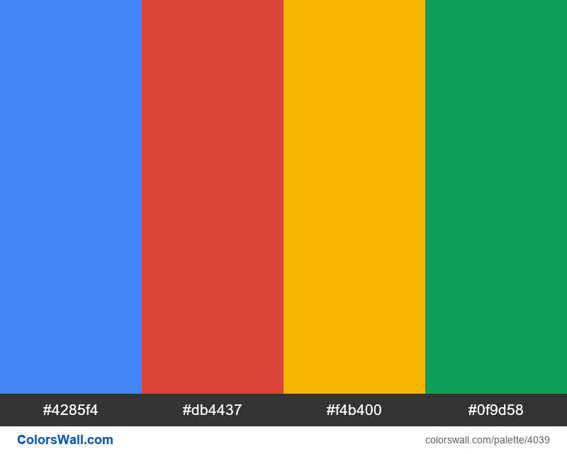 Google brand colors - #4039