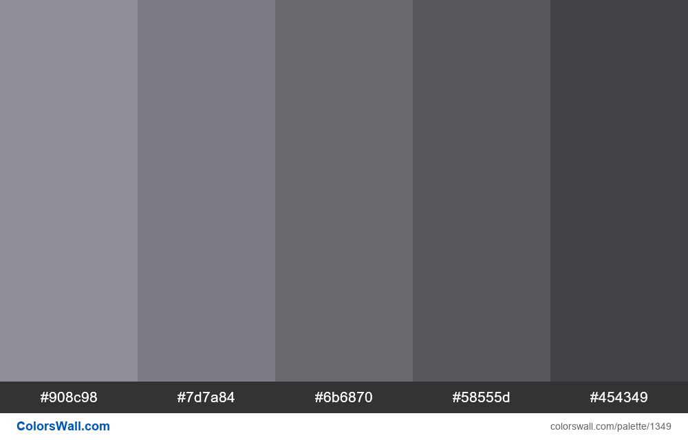 Gray shades 5 colors - #1349
