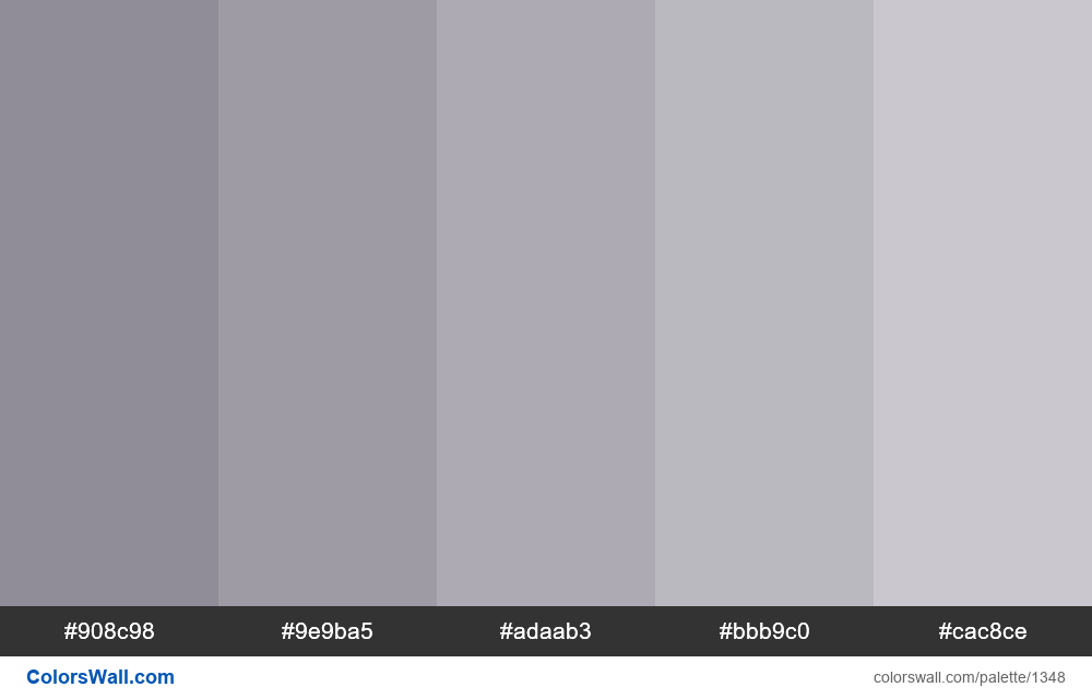 Gray tints 5 colors - #1348