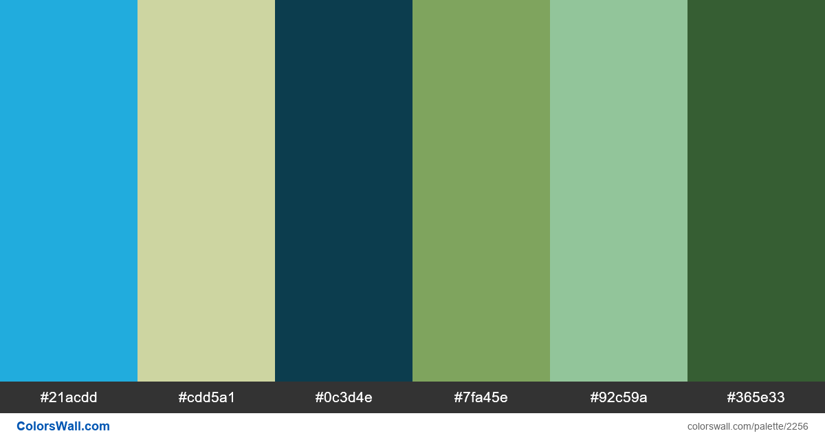 Green and blue sky palette - #2256