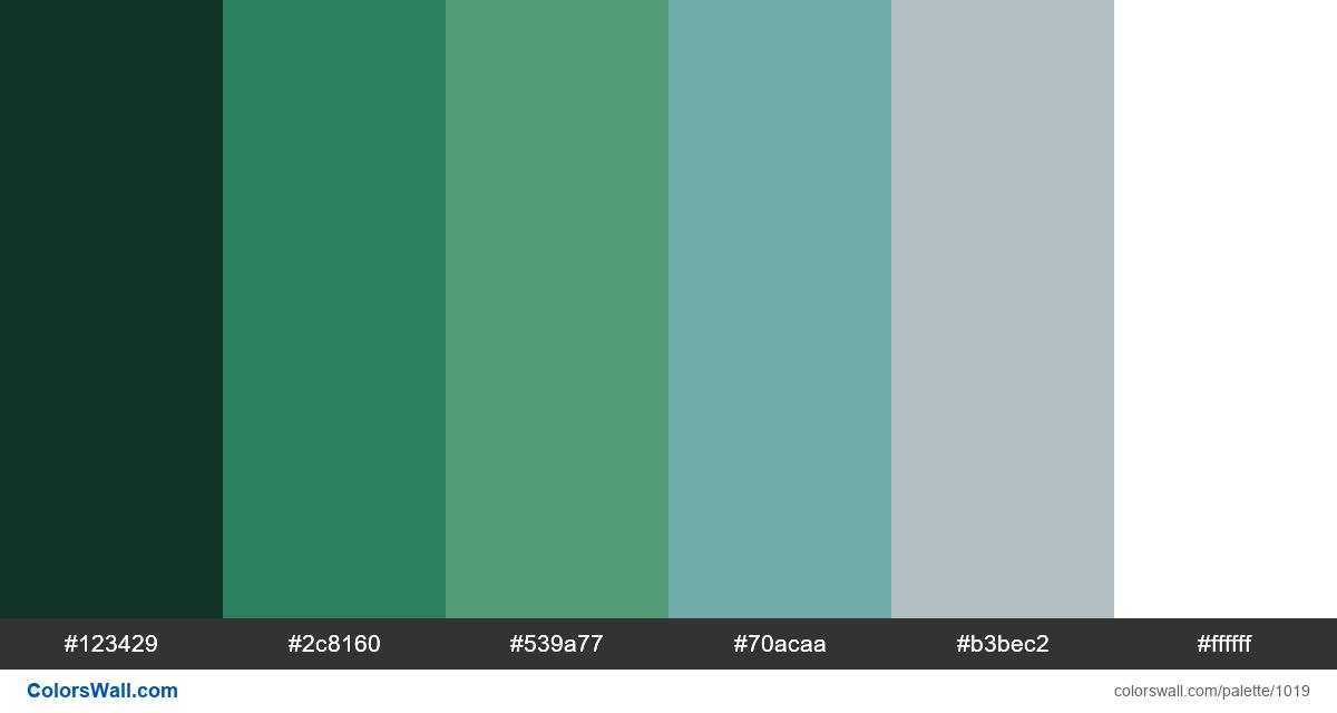 Green bedroom color palette - #1019