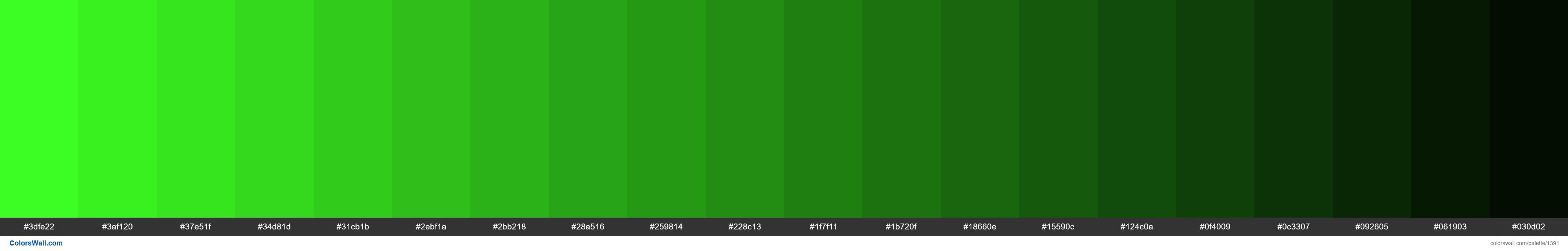 Green shades 20 - #1391