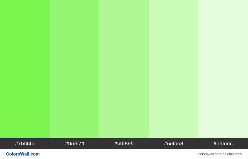 Green tints - #1529