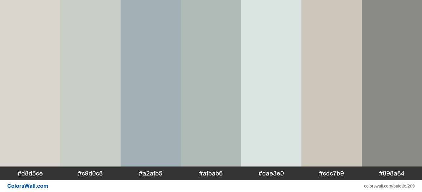 home interior color palette - #209