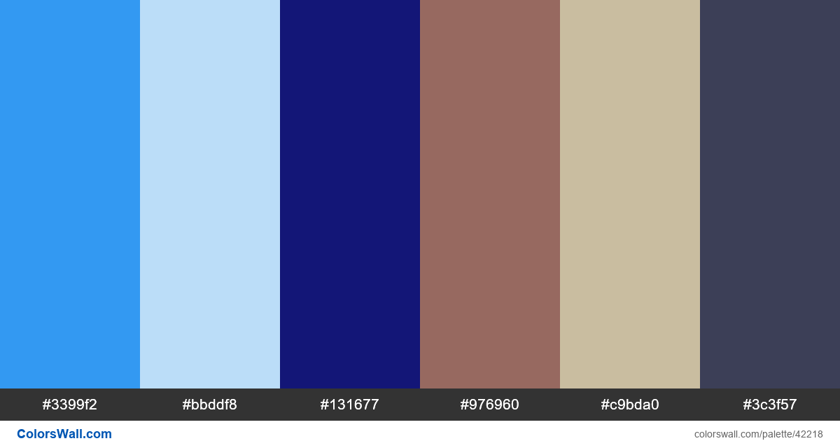 Hospitality web services webdesign colors palette - #42218
