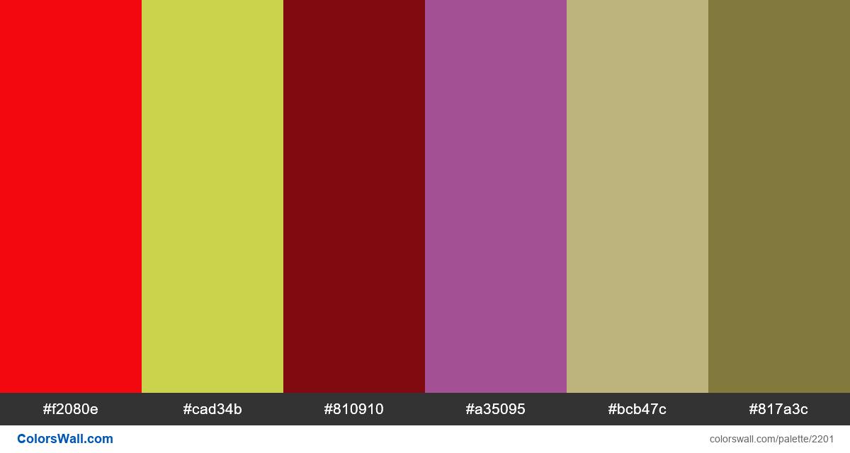 Hot colors palette - #2201