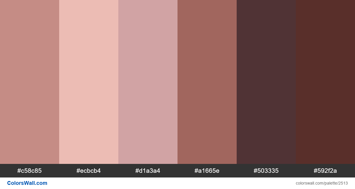 Human Skin Tone Color Palette HEX, RGB Codes