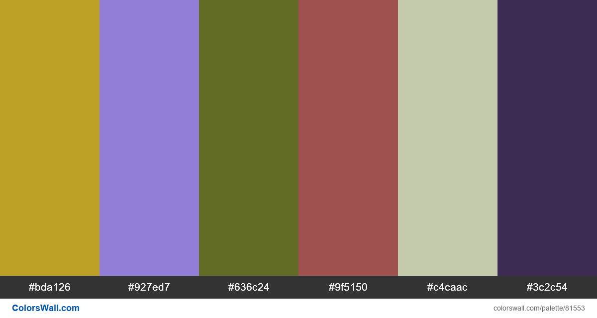Illustration hex colors - #81553