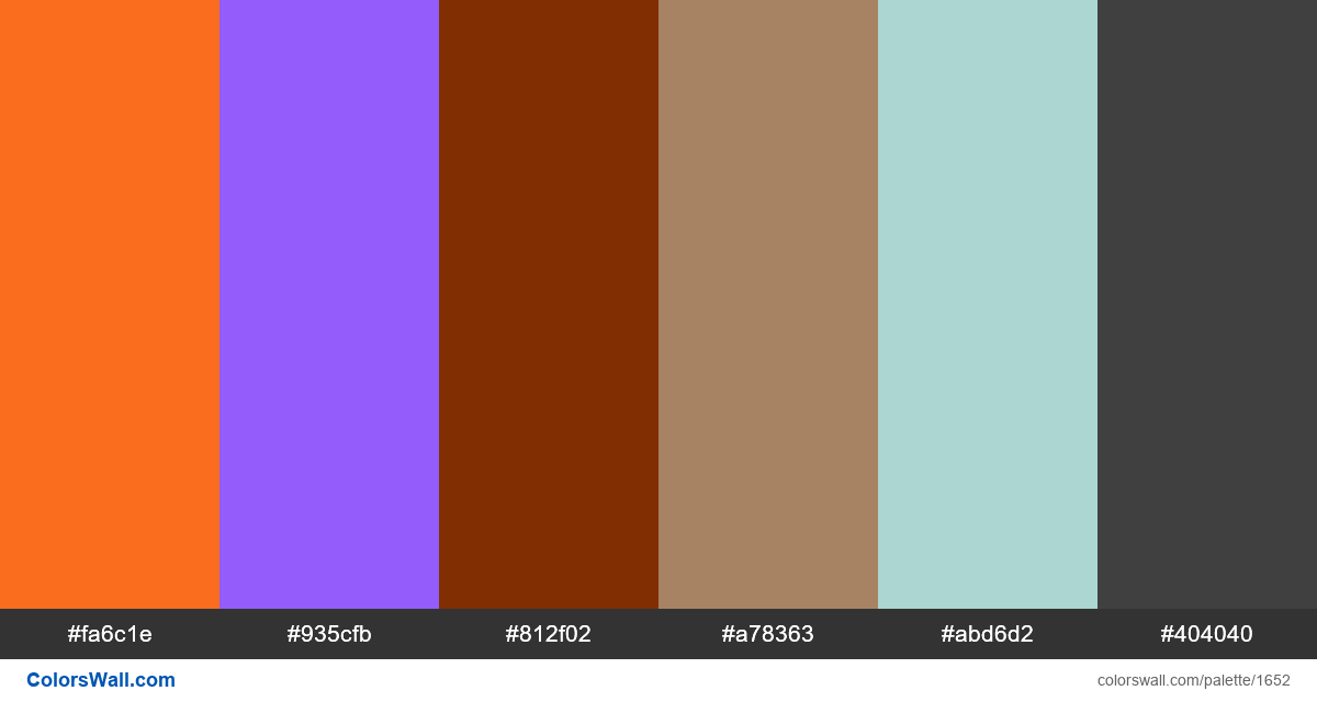 Infographic colors palette - #1652