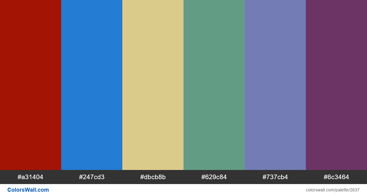 Infographic colors palette - #2637