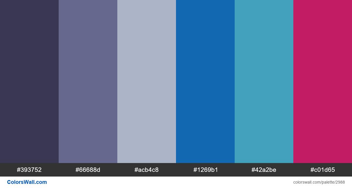 Infographic colors palette - #2988