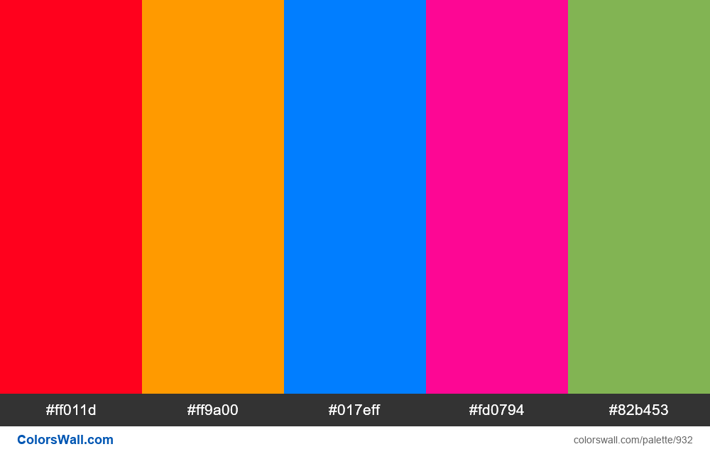Infographic colors palette - #932