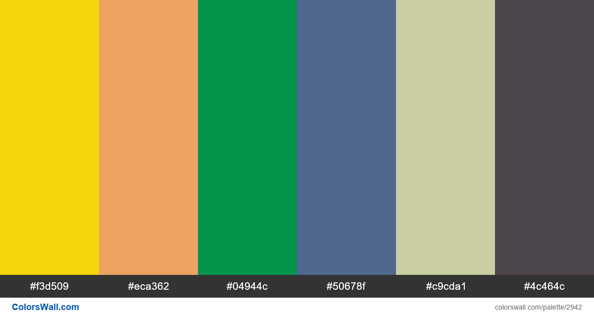 Infographic technology stack colors palette - #2942