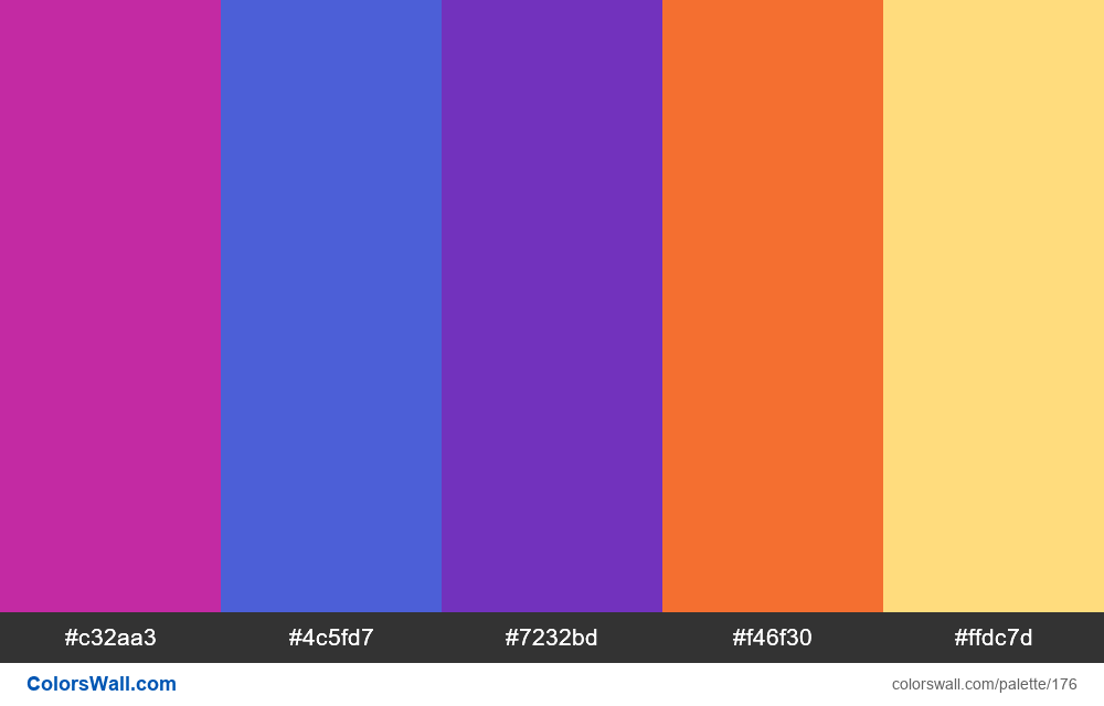 Instagram Colors Palette Hex Rgb Codes