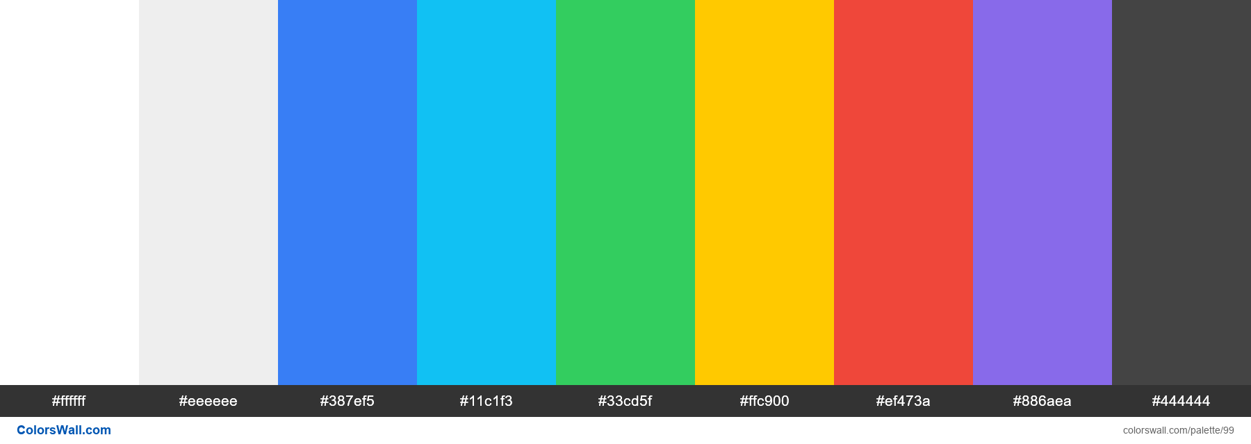Ionic Colors Palette - #99