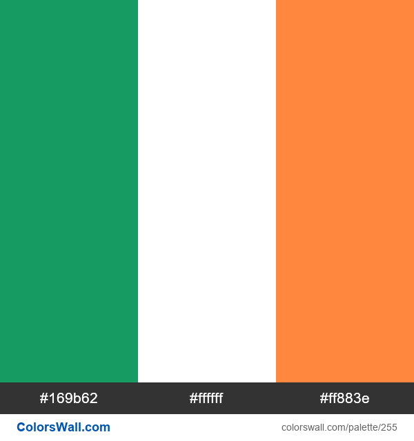 Ireland flag colors - #255