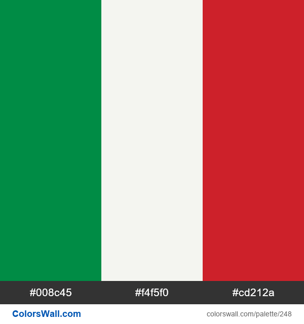 Italy flag colors - #248