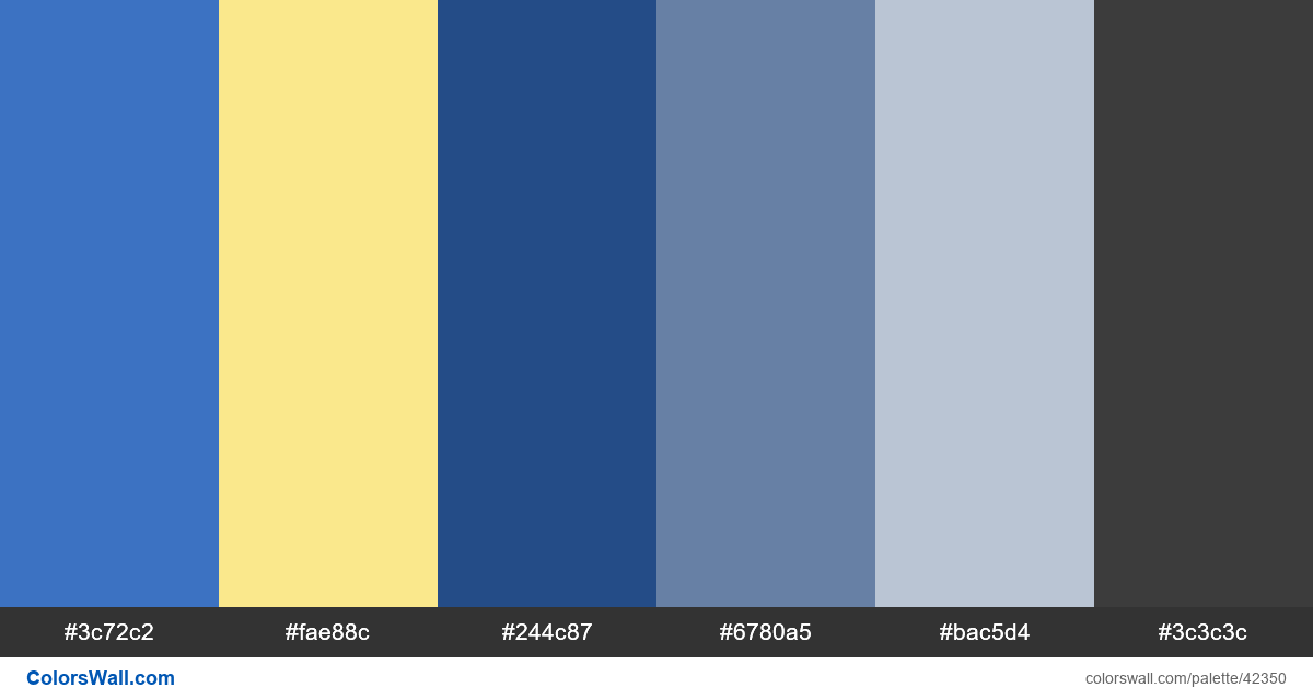Iu ux finance business colors palette - #42350