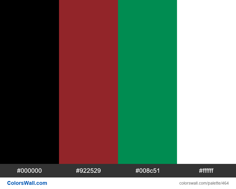 Kenya flag colors - #464
