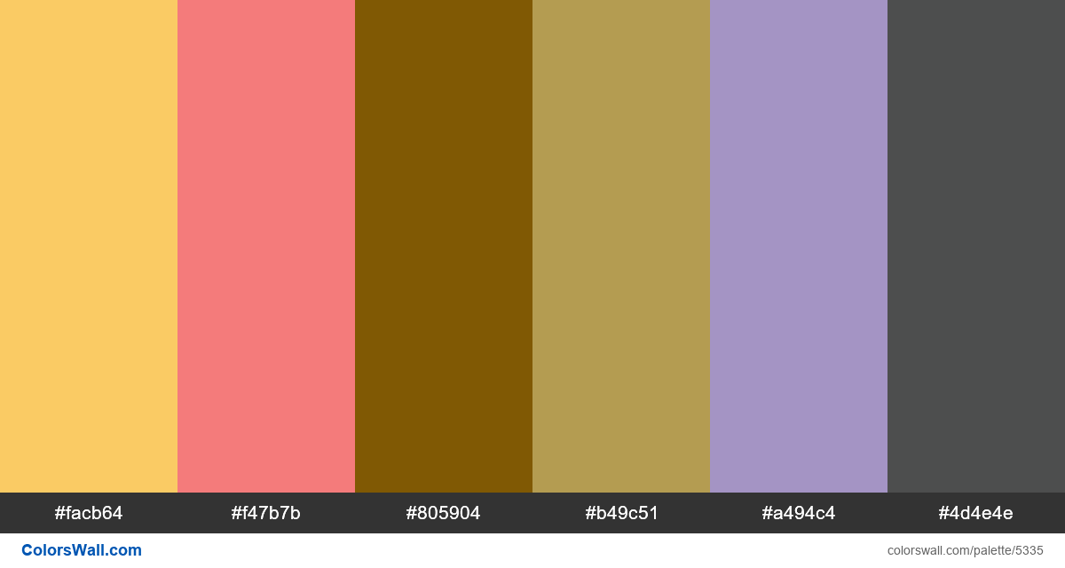 Landingpage design clean colors palette - #5335