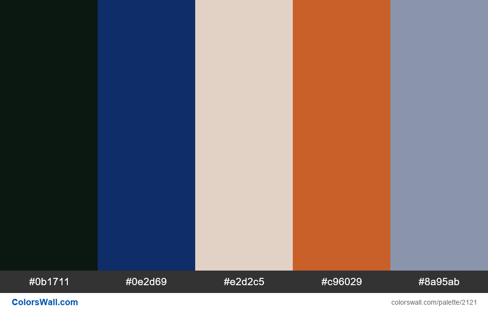 Last website colors palette - #2121