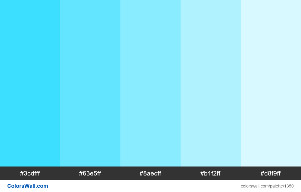 Light Blue Tints 5 Colors Hex Rgb Codes