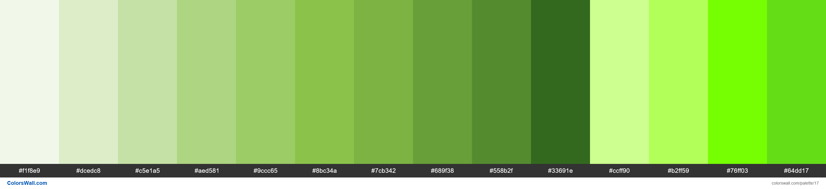 Light Green palette Materialize CSS - #17